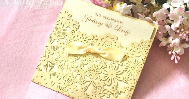 Wedding Gift Tag Malaysia : Wedding Card Malaysia Crafty Farms Handmade : Champagne Laser Cut ...
