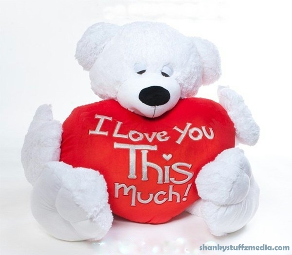 Happy Teddy bear day  - i love you this much