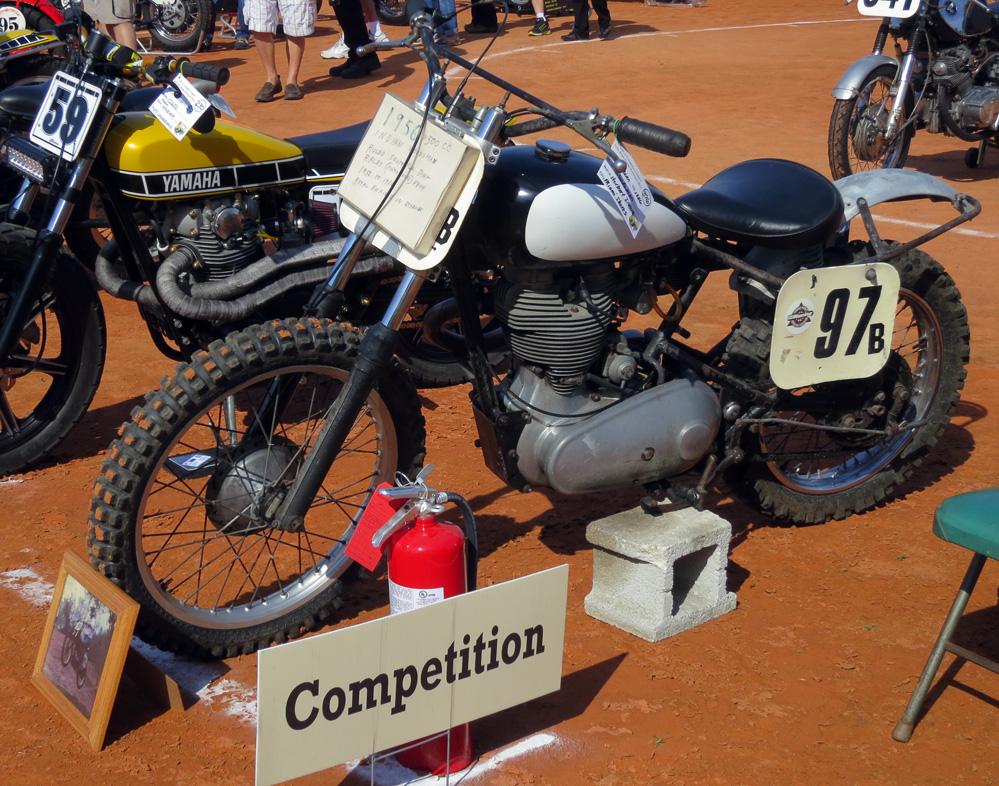 Royal Enfield racing motorcycle.