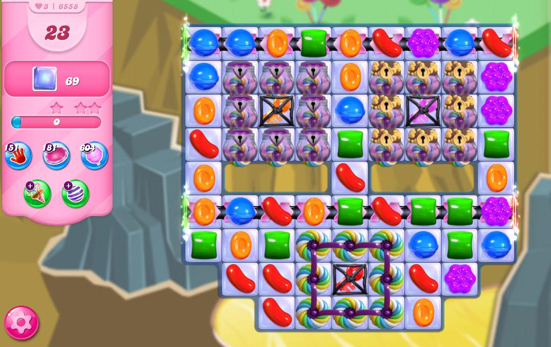 Candy Crush Saga level 6558