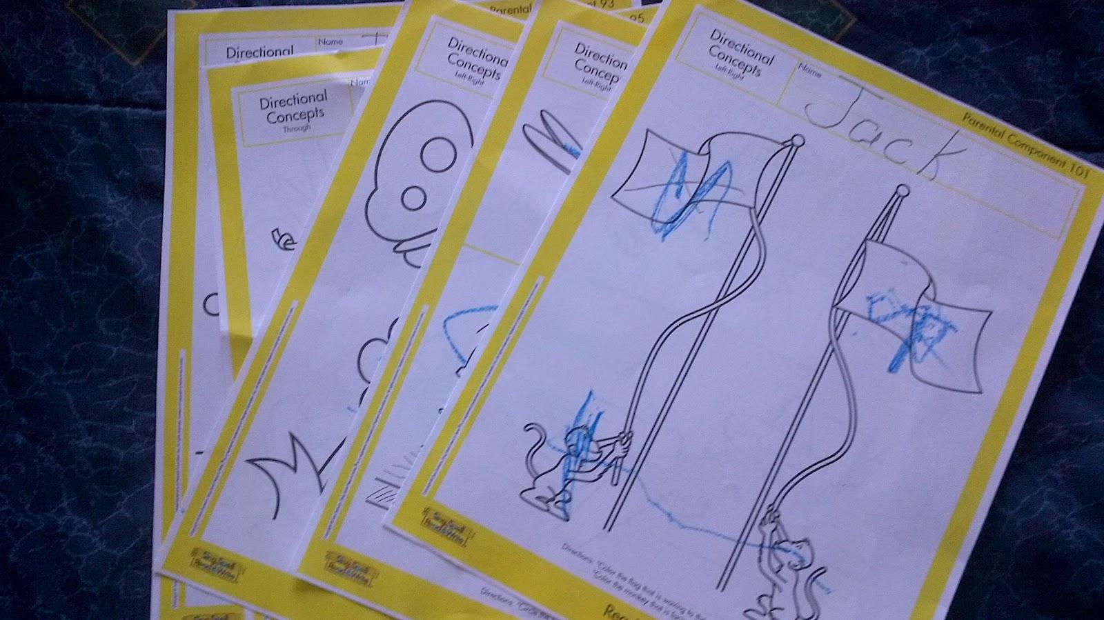 Preschooler Busy Hands Preschool Worksheets Left Right