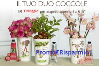 Logo Mug Cottector e Crema Mani in omaggio con Grazia e L'Occitane