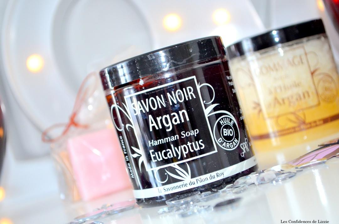 savon noir- savon noir argan - exfoliant naturel - savonnerie du pilon du roy -savonnerie - made in france - soin francais