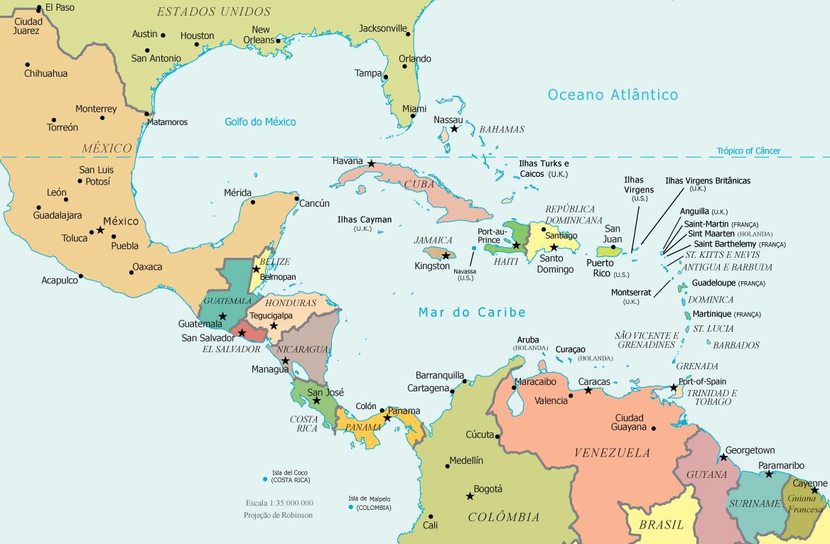 America Central e Caribe | Viagens e Turismo