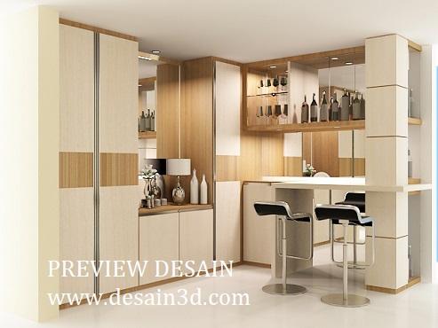 Anda Memerlukan Jasa Desain 3d Interior Design Kitchen Set Mini Bar Untuk  Dapur, Kami Siap Membantu Anda Untuk Mewujudkan Desain Yang Anda Inginkan,  ...