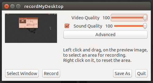 How to desktop screen video record with recordmydesktop