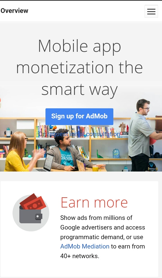 Create Android app and earn money using Google admob
