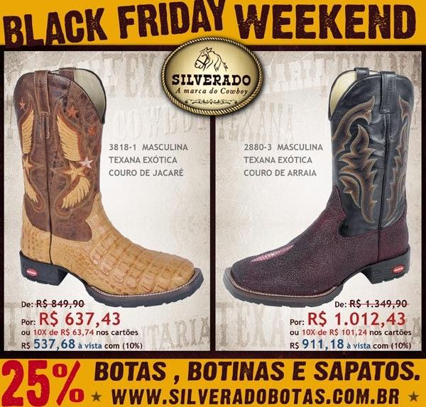 1626ad3f1f0dc SILVERADO BOTAS: BLACK FRIDAY COUNTRY SILVERADO! - Silverado Botas