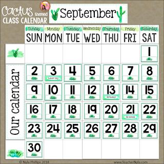 class calendar editable cactus theme