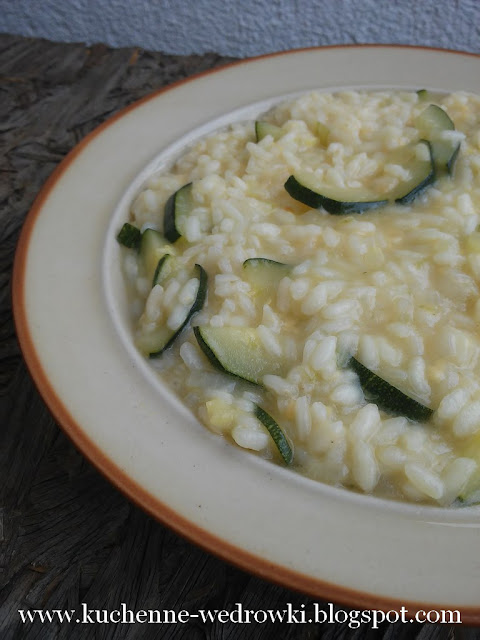 Courgette and lemon zest risotto