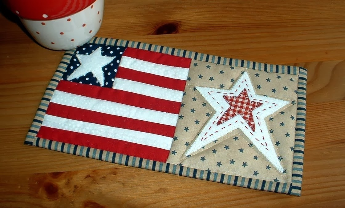 http://www.craftsy.com/pattern/quilting/home-decor/stars-and-stripes-mug-rug/49227