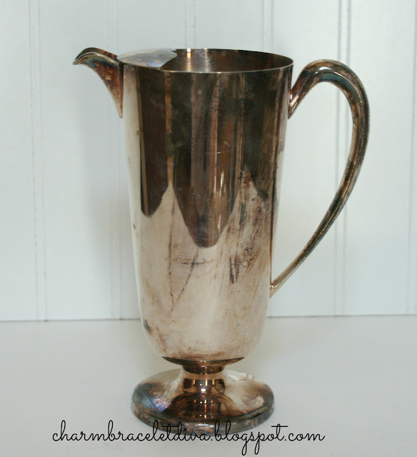 Silver art deco vintage cocktail pitcher