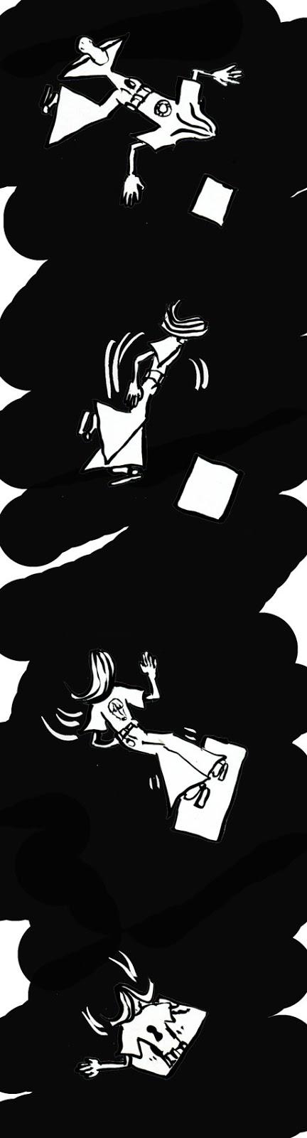 """""""LE LIVRE DELIVRE"""", part02 strip de Zéda pour illustrer chronique 7BD sur """"LE LIVRE DES LIVRES"""" de Marc-Antoine Mathieu chez Delcourt"""