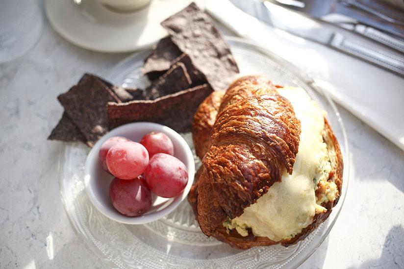 Egg croissant at Cafe M.