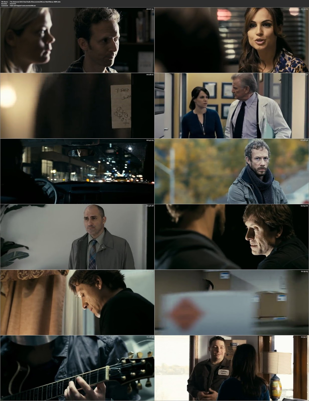 The Returned 2013 Hindi Dubbed 300MB BluRay 480p at movies500.site