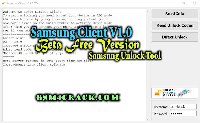 Samsung Client V0.1 Beta Version Samsung Unlock Tool