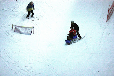 Me skiing down the slope