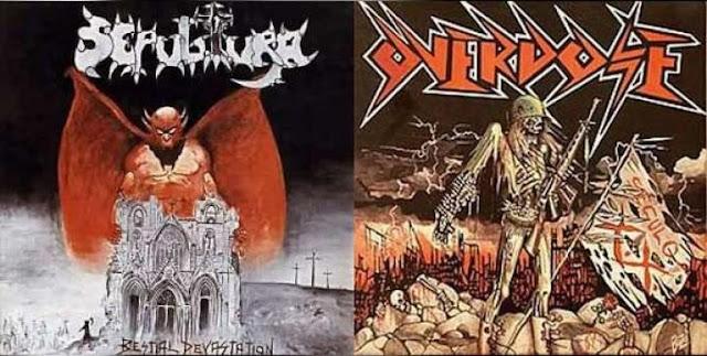 Image result for Overdose & Sepultura - 1985 Século XX & Bestial Devastation