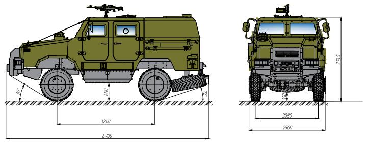 бронеавтомобіль Козак-2 тактичний