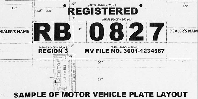 Here are the new LTO-approved temporary license plate