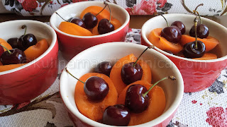 Рецепта за клафути с череши и кайсии