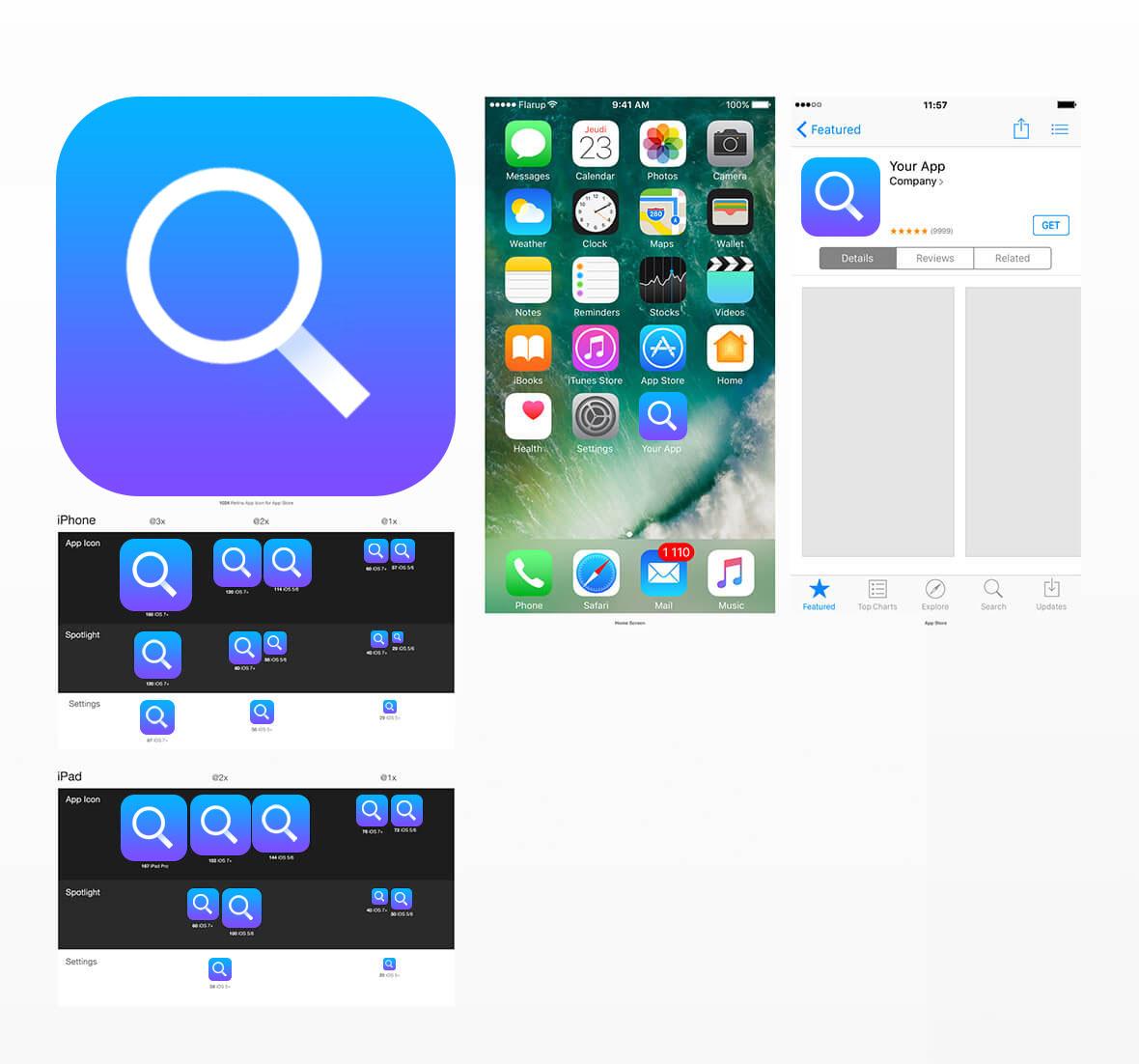Search App Icon Design Idea