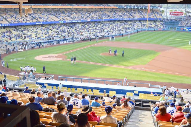 Dodger stadium seats section 134