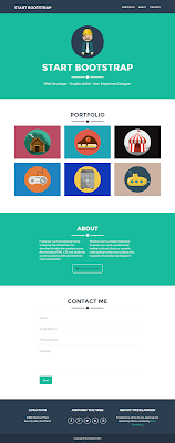 Freelancer One Page Bootstrap Free Template