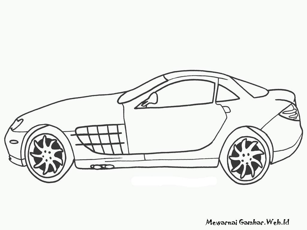 Mewarnai Gambar Mobil Mercedes Benz