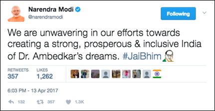 Twitter commemorates #AmbedkarJayanti with a special emoji