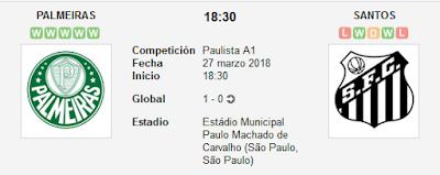 Palmeiras vs Santos en VIVO