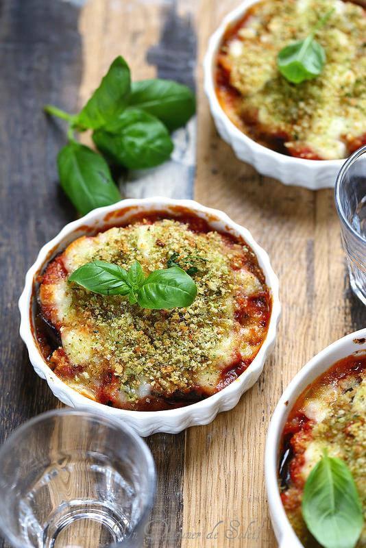 Parmigiana d'aubergines légère et gourmande