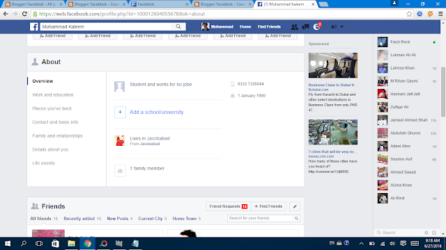 Manage Facebook About  2
