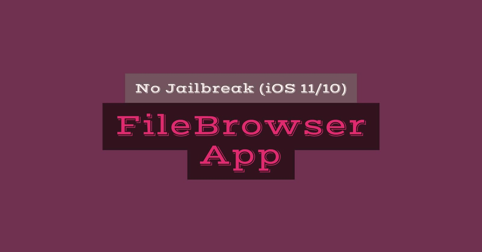 Here's how download and install FileBrowser IPA (Files app) on iOS 10/11 without jailbreak using Xcode or Cydia Impactor for non-jailbroken users.