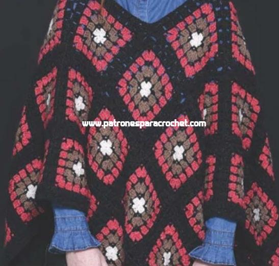 poncho-de-cuadros-crochet