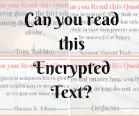 Can you read this Encrypted Text?