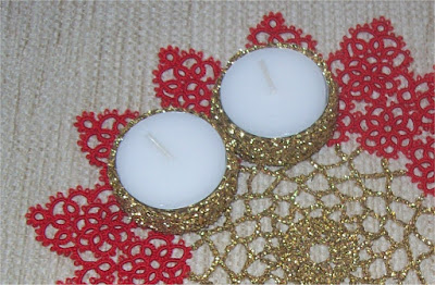 Crochet candle holder - Portacandela all'uncinetto