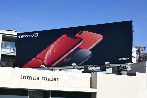 red iPhone XR billboard