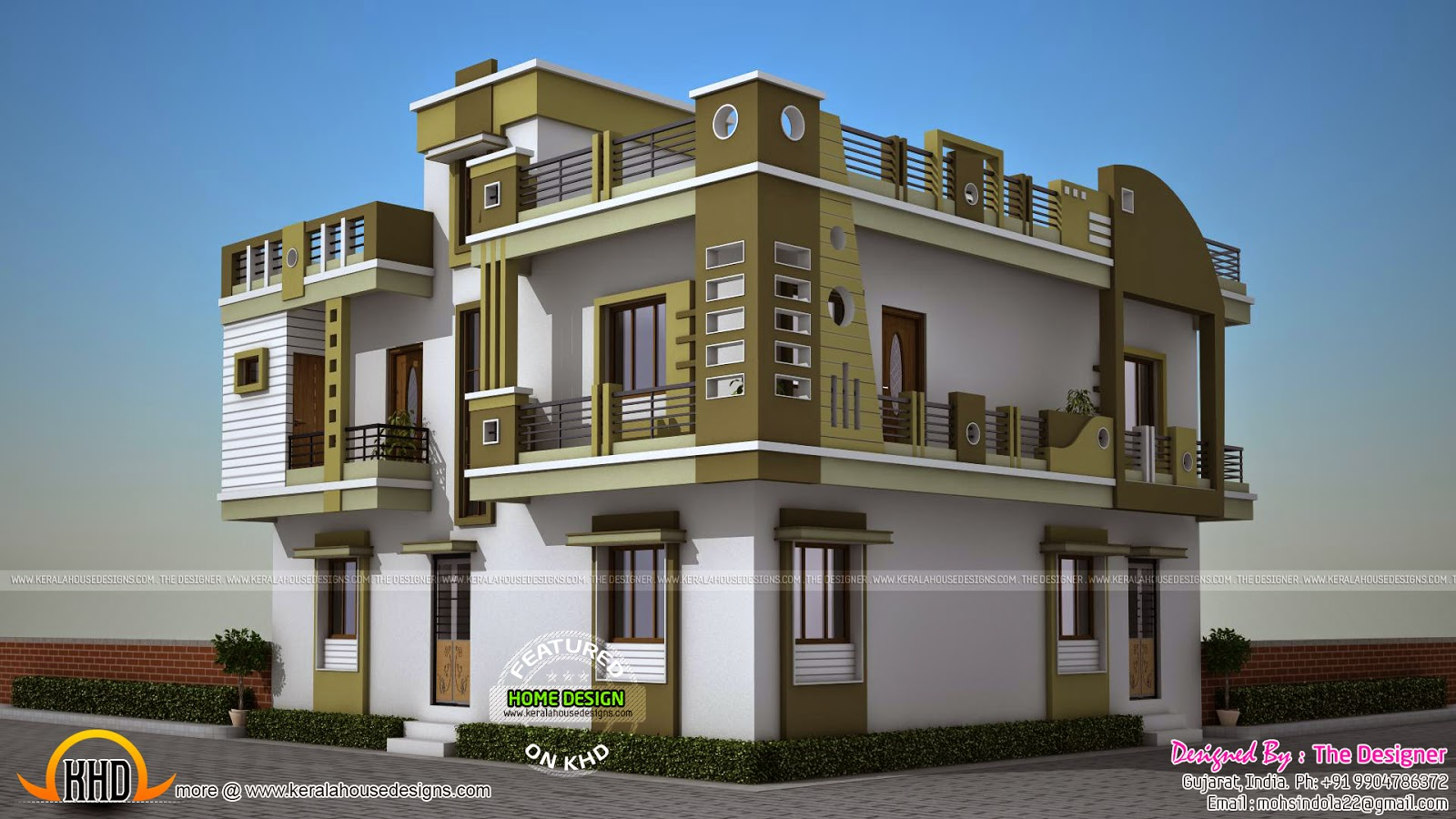 February 2015 kerala home design and floor plans for Model house photos in indian