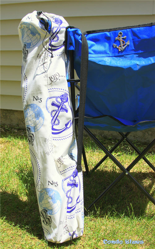 Condo Blues How To Make A Folding Camp Chair Carry Bag
