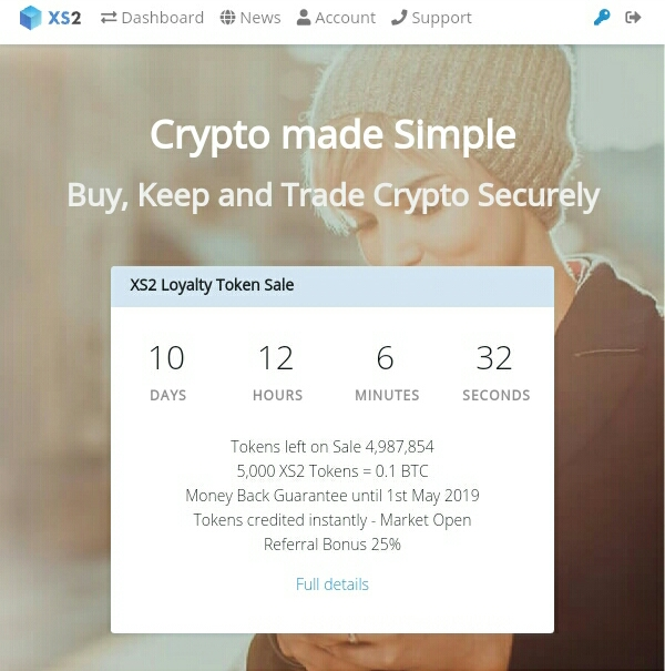 xs2 exchange Free Token Earn Btc Sign up Bonus 10xs2 token