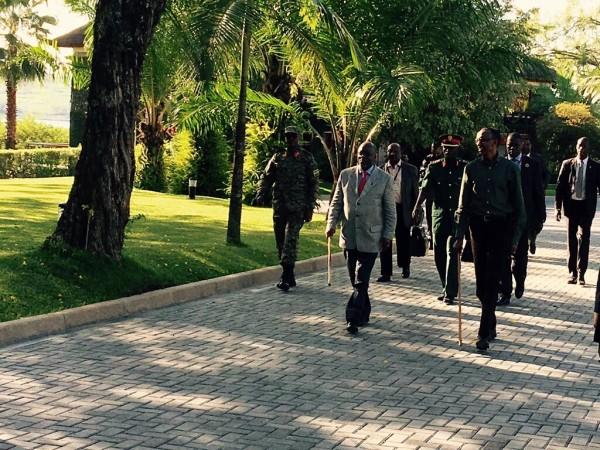 President Kagame and President Magufuli in Rwanda