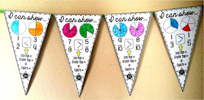 Comparing Fractions Math pennant