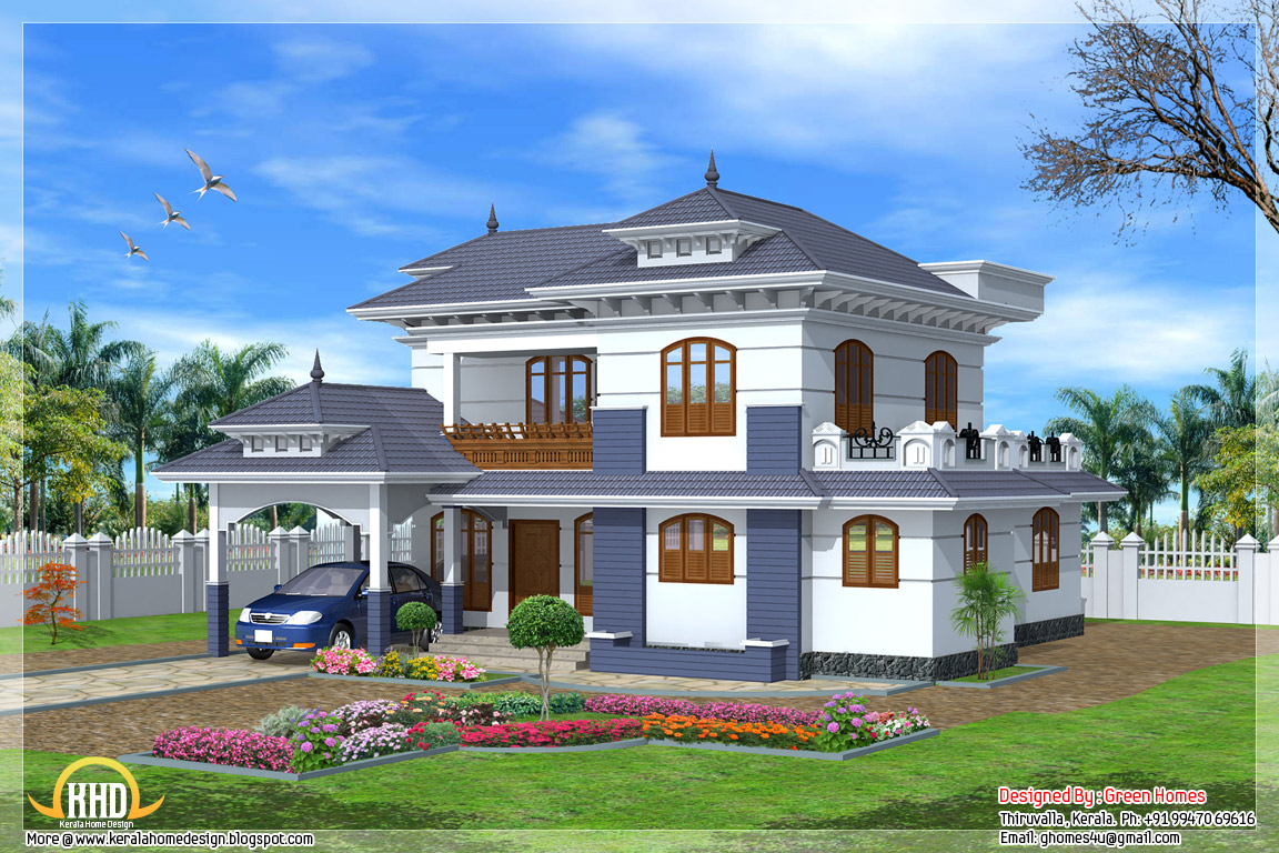 4 bedroom 2235 kerala style house kerala home for House designs front side
