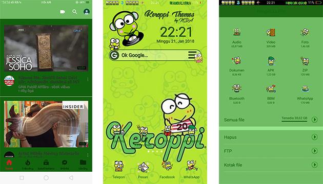 Oppo Theme: Oppo Keroppi Cute Theme