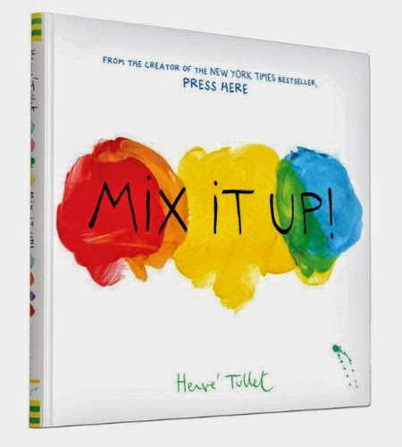 Mix It Up by Herve Tullet, part of book review list about colors and rainbows