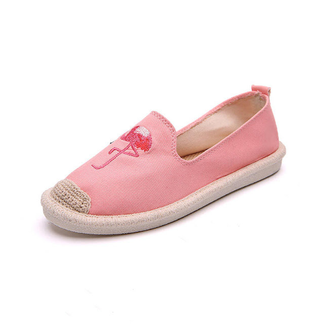 Women Embroidery Animal Pattern Comfortable Flats Loafer Shoes