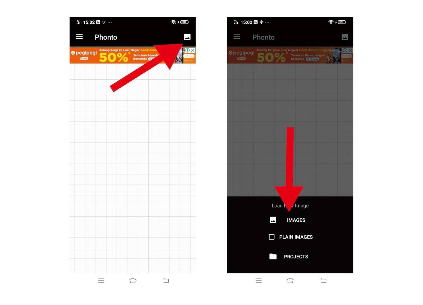 Cara Menggunakan Aplikasi Phonto