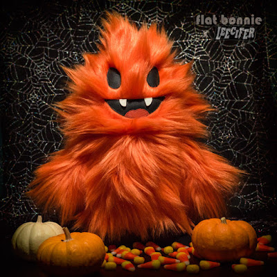 Designer Con 2016 Exclusive Halloween Orange Honoo Plush by Flat Bonnie x Leecifer