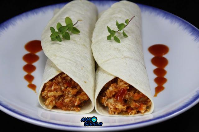 Tacos de pollo y tomate, olla GM. Ana Sevilla